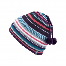Stripe Double Pom Beanie by Ibex