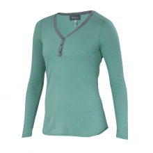 Women's Waffle Knit Henley by Ibex in Smithers Bc