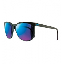 Megeve Sunglasses - Men's - Shiny Black/Blue Flash Lens in Golden, CO