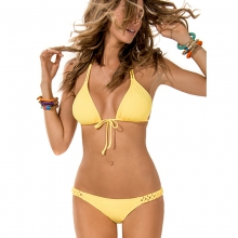 Womens Forget Me Knot Full Bikini Bottom - Closeout Daffodil by L Space