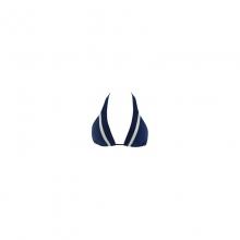 Women's Stripe Malibu Triangle Top - Closeout Steel Blue by L Space