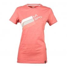 - Stripe Logo T Shirt Wmns - X-Small - Cipria by La Sportiva