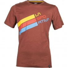 - Stripe Logo T Shirt - Small - White by La Sportiva