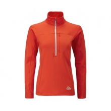 Womens Powerstretch Zip Neck SM::Peackock by Lowe Alpine