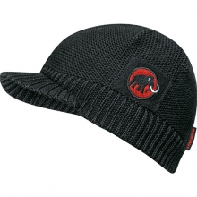 Visor Beanie: Black-Red