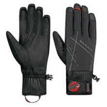 Merit Pulse Glove - Black/Highway In Size: 8 by Mammut