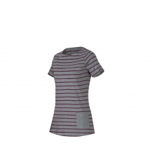 - Ceredo T Shirt W - x-small - Amarante Melange Stone Grey Melange by Mammut