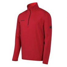 Snow Zip Long Sleeve Mens Mid Layer by Mammut