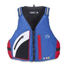 MTI Adventurewear Journey Mariner PFD - Blue/Red In Size: XXL-3XL