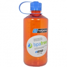Tritan Narrow Mouth Bottle 32 oz - Orange W/Blue Cap 32 OZ by Nalgene