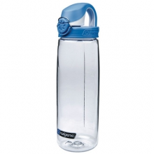 OTF Bottle - BPA Free: Clear w/Blue and White Cap by Nalgene
