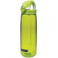 OTF Bottle - BPA Free: Clear w/Blue and White Cap by Nalgene