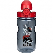 On the Fly Water Bottle - Kid's: Grey Smash w/Red Top by Nalgene