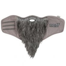 Bearded Snowboard Facemask, Grey