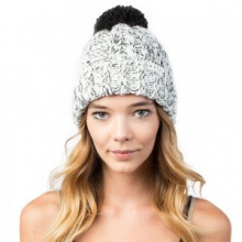 Kaycee Beanie, Black/White by Neff