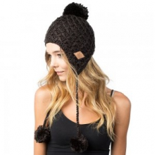 Amy Earflap Beanie, Black by Neff