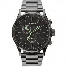 Sentry Chrono Watch Mens - Polished Gunmetal/Lum by Nixon