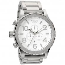 51-30 Chrono Watch Mens - High Polish/White by Nixon