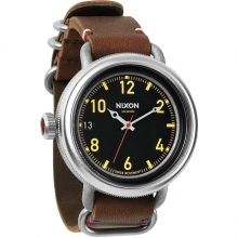 October Leather Watch Mens - Black/Brown by Nixon in Tucson AZ