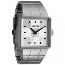 Quatro Watch Mens - Sanded Steel/White by Nixon