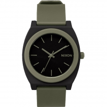 Time Teller P Watch  - Black/Bright Pink by Nixon