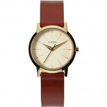 Kenzi Leather Watch Womens - Gold/Saddle by Nixon