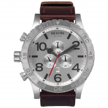 Men's 51-30 Chrono Leather Watch by Nixon