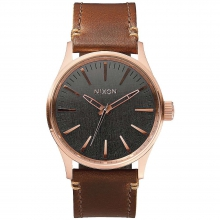 Men's Sentry 38 Leather Watch by Nixon