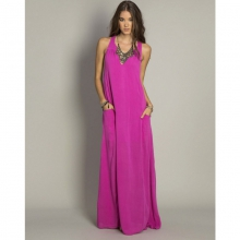 Laurel Maxi Dress - Closeout Dragon Fruit X Small by O'Neill