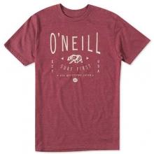 Bearclaw Short Sleeve Tee - Men's: Deep Red, Medium by O'Neill