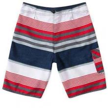 Santa Cruz Stripe Boardshorts - Boy's: Dark Navy, 22 by O'Neill