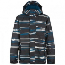 Grid Insulated Snowboard Jacket Boys', Blue Grid, 6X by O'Neill