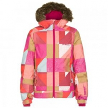 Tigereye Insulated Snowboard Jacket Girls', Orange Pop, 10 by O'Neill