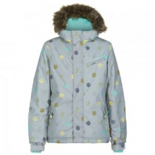 Radiant Insulated Snowboard Jacket Girls', Grey AOP, 6X by O'Neill