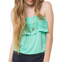 Rosa Tiered Tube Top - Women's: Spearmint, Extra Small by O'Neill