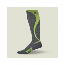 Ski Carve Over the Calf Sock Men's, Gray/Bright Lime, L in Ellicottville, NY