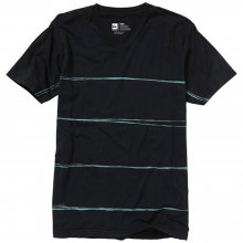 Crime Wave Short Sleeve V-Neck Shirt Mens - Black L by Quiksilver