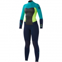 Roxy Synchro 3/2 Back Zip Wetsuit Mens - Black/Green/Green 4 by Quiksilver