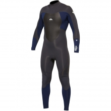 Synchro 3/2 Back Zip Wetsuit Mens - Black/Blue S by Quiksilver