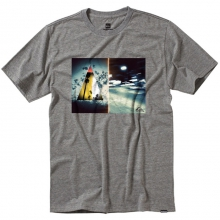 Effected Slim Fit T-Shirt Mens - Smoke Heather S by Quiksilver