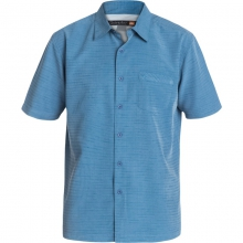 Mens Centinela Short Sleeve Shirt - Closeout Shadow Large by Quiksilver