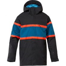 Mens Fraction 10K Jacket - Closeout Fiery Red Medium by Quiksilver