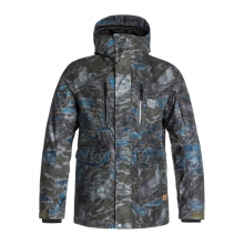 Mens Dark Stormy Jacket - Closeout Forest Night - Plaid by Quiksilver