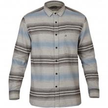 Skua Long Sleeve Flannel Shirt Mens - Drizzle Stripe L by Quiksilver