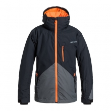 Boys Mission Block Jacket - Closeout Iron Gate Medium by Quiksilver