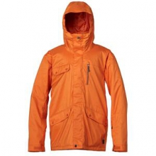 Raft Insulated Snowboard Jacket Men's, Rust, XL by Quiksilver
