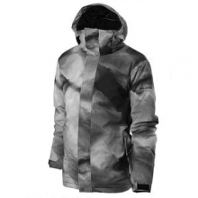 Travis Rice Mission Printed Insulated Snowboard Jacket Men's, Fogfisher, L by Quiksilver