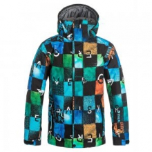 Mission Print Insulated Snowboard Jacket Boys', Chikalapaki Origin, M by Quiksilver