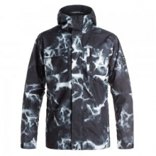 Mission 3-in-1 Insulated Snowboard Jacket Men's, Highdye Anthracite, L by Quiksilver