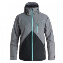 Mission Colorblock Insulated Snowboard Jacket Men's, Quiet Shade, L by Quiksilver